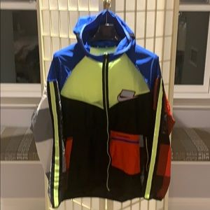 Nike SB color block nylon run windbreaker -L